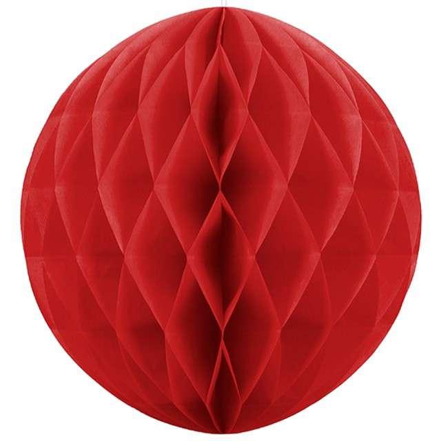 Kula bibułowa, czerwona, 20 cm