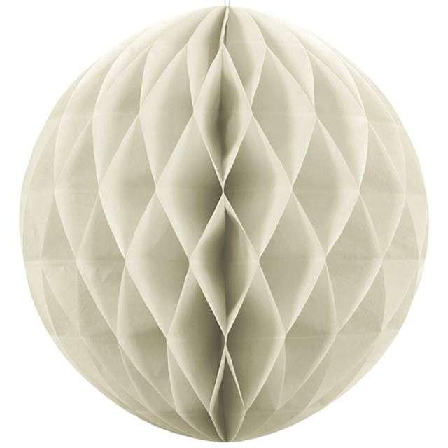 Kula bibułowa, kremowa jasna, 10 cm