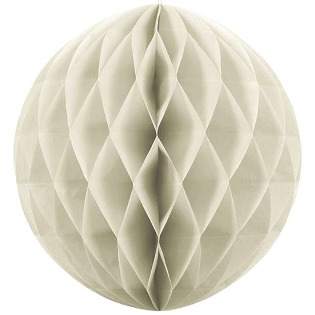 "Dekoracja ""Honeycomb Kula"", kremowa jasna, 30 cm"