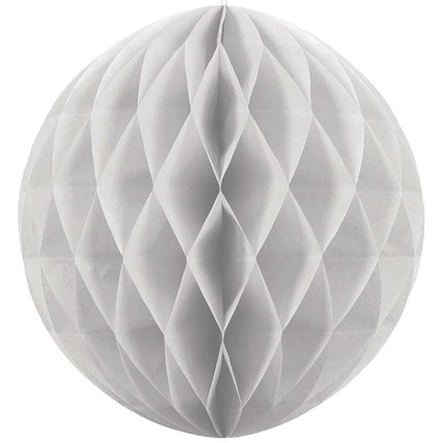 Kula bibułowa, szara jasna, 10 cm