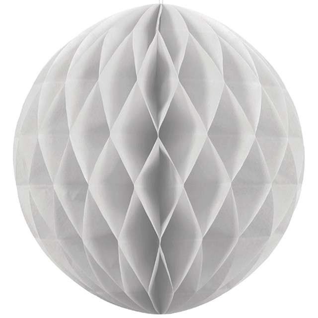 "Dekoracja ""Honeycomb Kula"", szara jasna, 40 cm"