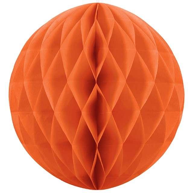 Kula bibułowa, pomarańczowa, 10 cm