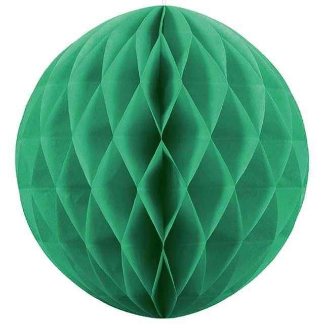Kula bibułowa, zielona szmaragdowa, 20 cm