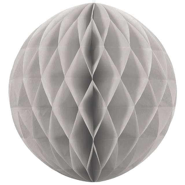 """Dekoracja """"Honeycomb Kula"""", szara, 40 cm"""