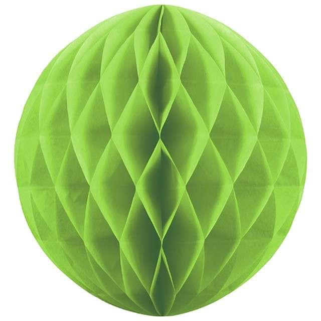 Kula bibułowa, zielone jabłuszko, 10 cm