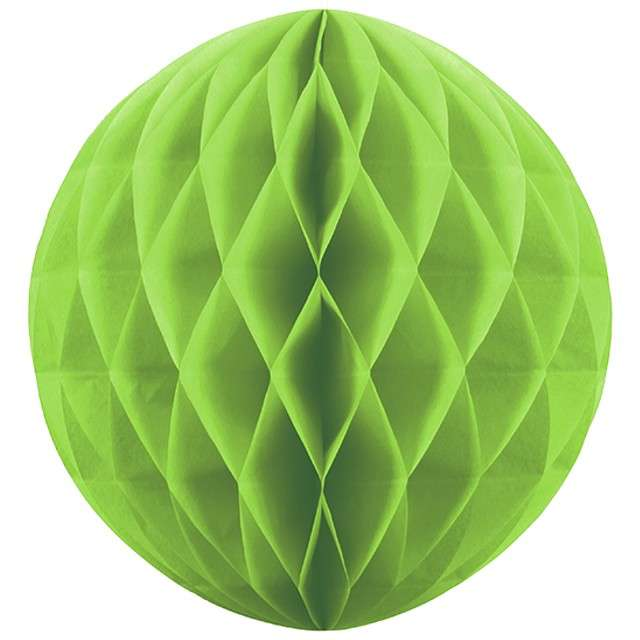 Kula bibułowa, zielone jabłuszko, 20 cm