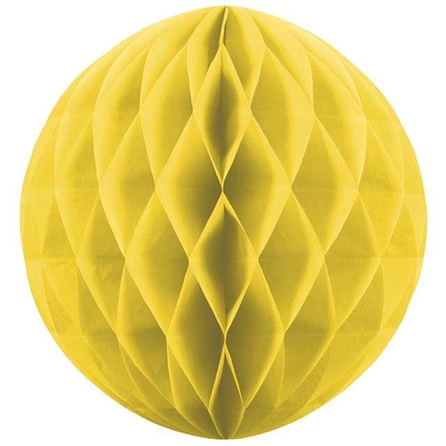 Kula bibułowa, żółta, 20 cm