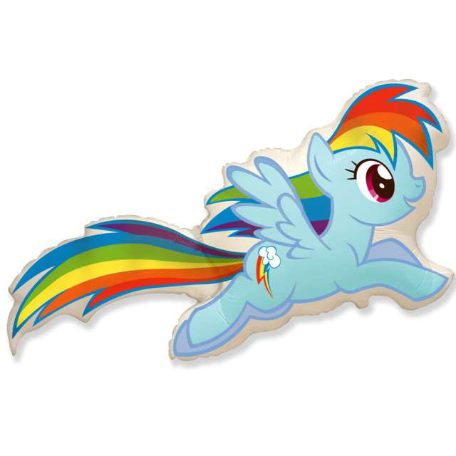"Balon foliowy ""My Little Pony: Rainbow Dash"", FLEXMETAL, 16"" SHP"