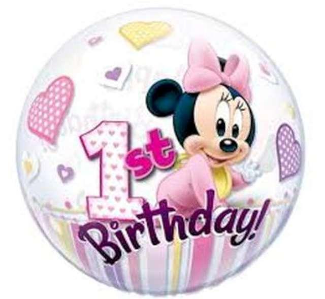 """Balon foliowy """"Mickey - 1 Urodziny"""", QUALATEX, 22"""" ORB"""