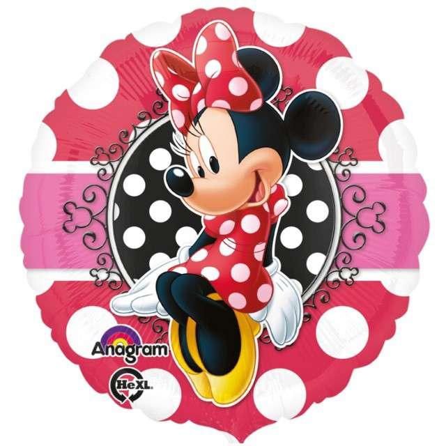 """Balon foliowy """"Minnie Mouse"""", AMSCAN, 18"""" CIR"""