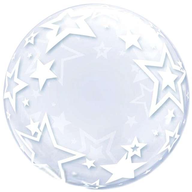 """Balon foliowy """"Gwiazdy"""", srebrny, Qualatex, 24"""", ORB"""