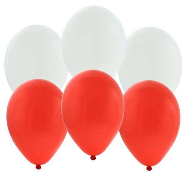 """Balony """"Biało Czerwoni"""", mix, GODAN, 10"""", 10 szt"""