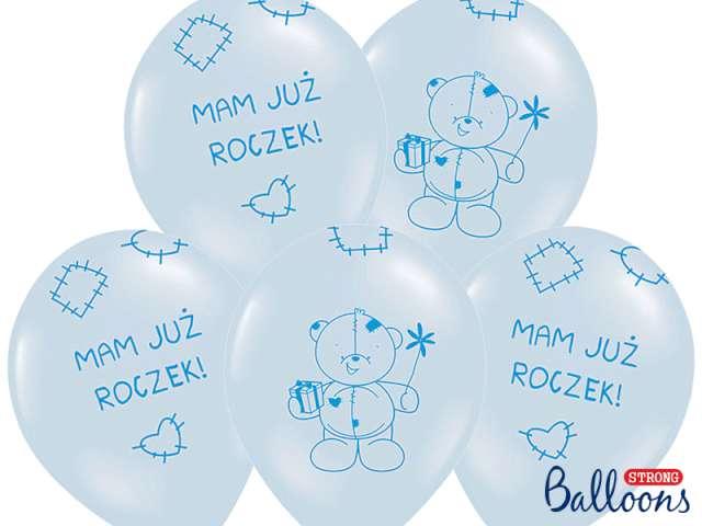 "Balony 14"", ""Mam już roczek"", STRONG, Baby Blue, 50 szt"