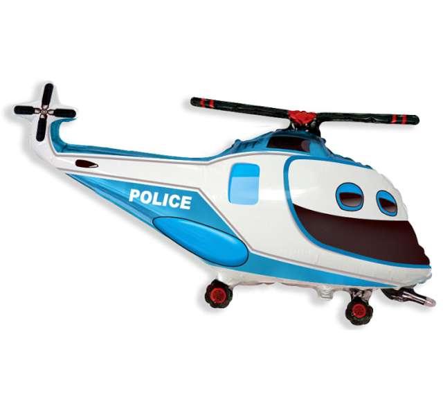 """Balon foliowy """"Helikopter Policyjny"""", FLEXMETAL, 24"""" SHP"""