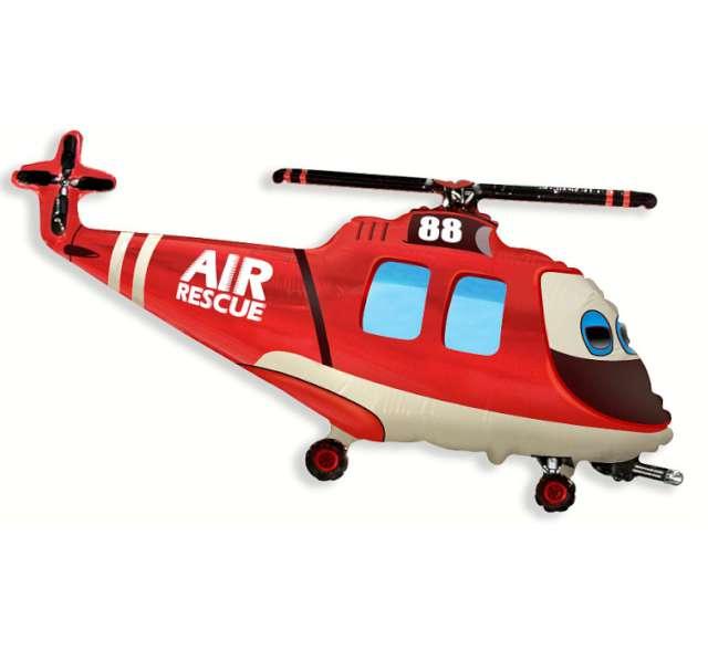 """Balon foliowy """"Helikopter Ratunkowy"""", FLEXMETAL, 24"""" SHP"""