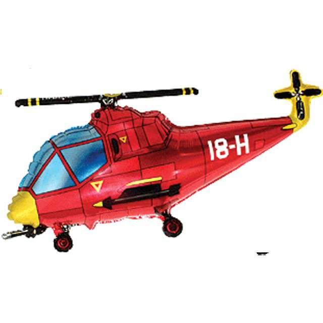"""Balon foliowy """"Helikopter"""", czerwony, FLEXMETAL, 24"""" SHP"""