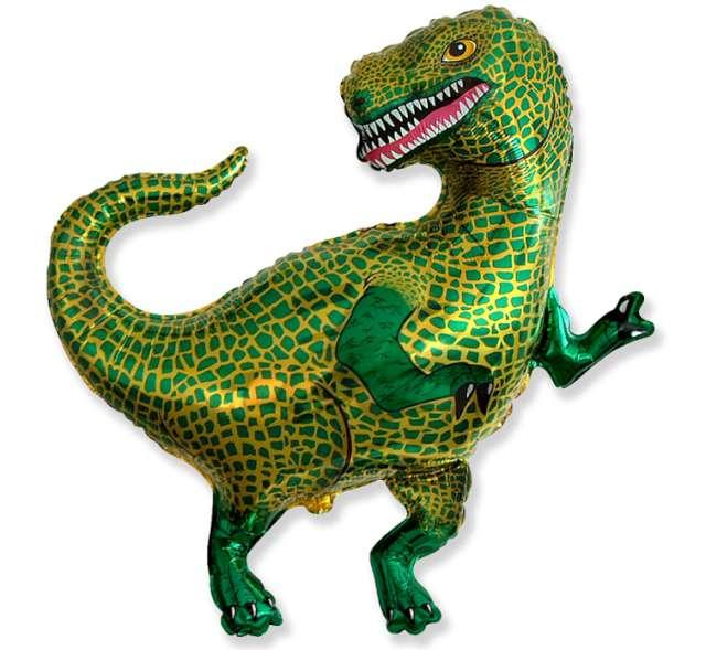 "Balon foliowy ""Dinozaur Tyranozaur"", FLEXMETAL, 34"" SHP"