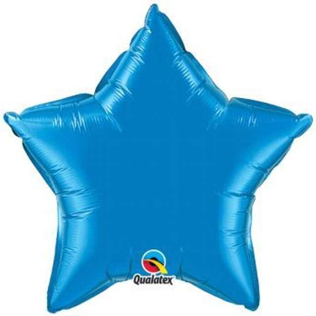"Balon foliowy ""Gwiazda"", niebieski, Qualatex, 36"", STR"