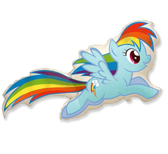 "Balon foliowy ""My Little Pony: Rainbow Dash"", FLEXMETAL, 40"" SHP"