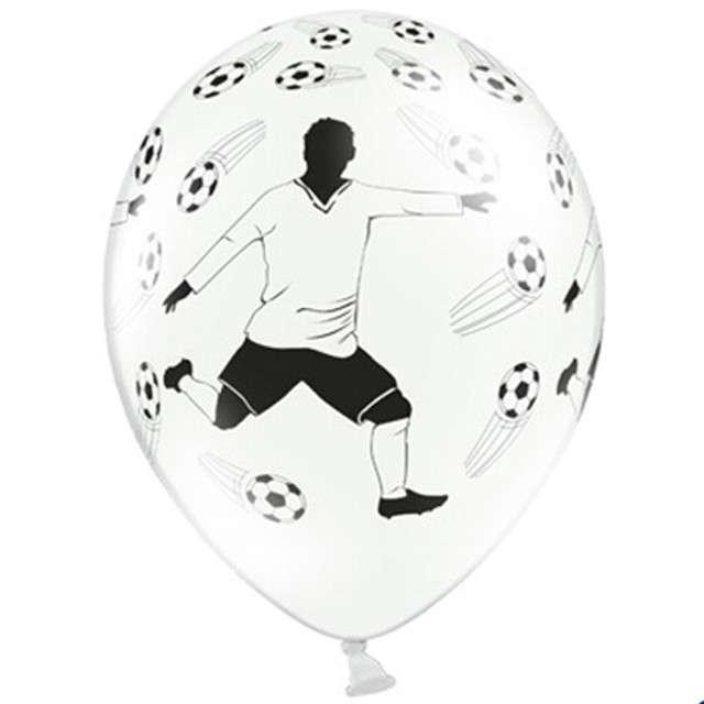 "Balony 14"" ""Piłkarz"", STRONG, Pastel White, 6 szt"