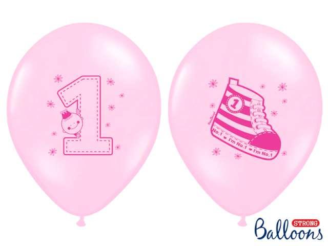 Balony 14 Trampek 1 STRONG Pastel Baby Pink 6 szt