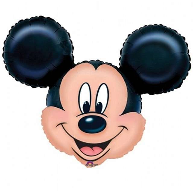 "Balon foliowy ""Mickey Mouse głowa"", AMSCAN, 27"" SHP"