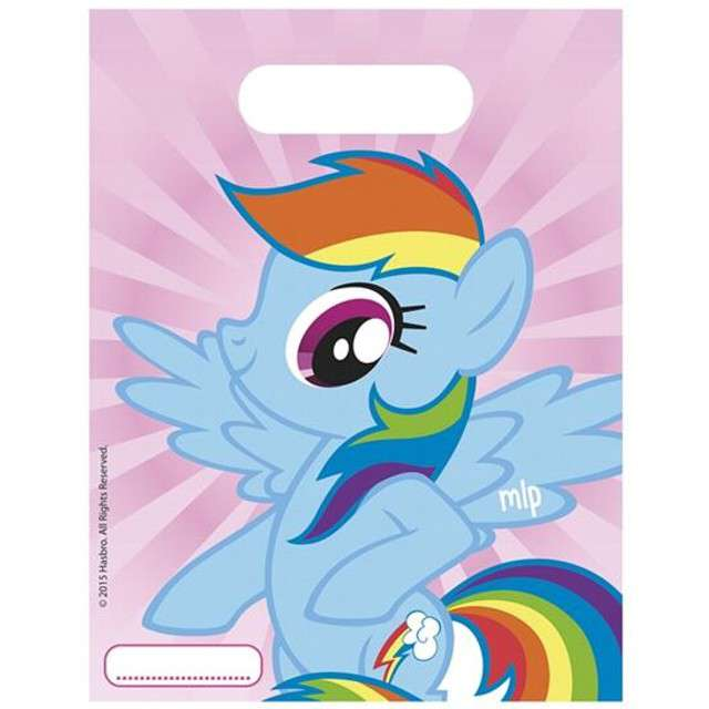 """Torebki foliowe """"My Little Pony"""", PROCOS, 17x23 cm, 6 szt"""