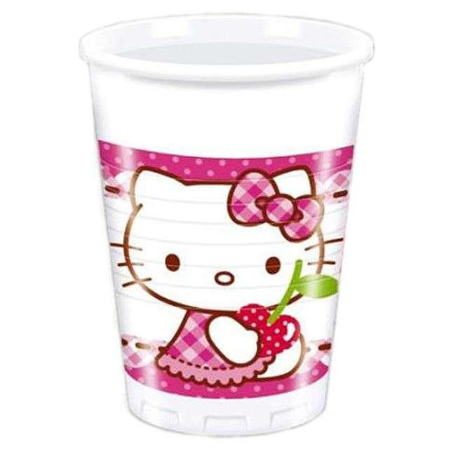 """Kubeczki plastikowe 200 ml, """"Hello Kitty"""" 8 szt"""