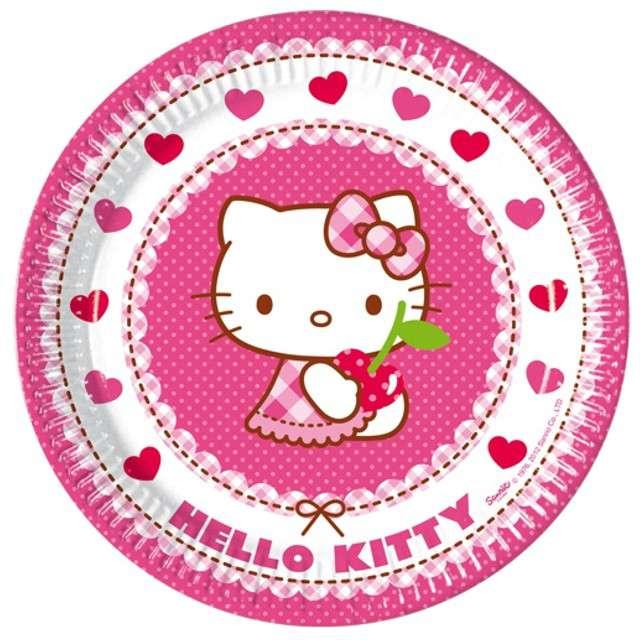 """Talerzyki papierowe """"Hello Kitty"""", 23 cm, 8 szt"""