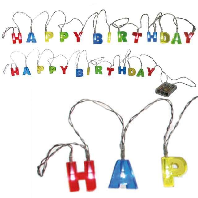 "Lampki LED ""Happy Birthday"""