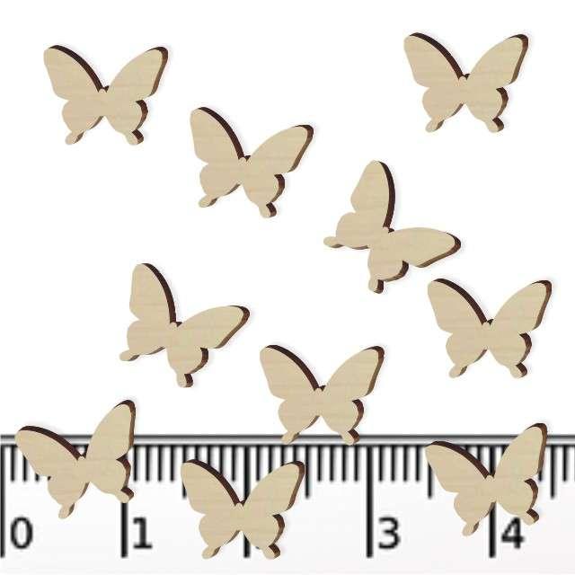 """Scrapki drewniane """"Motylki"""", 10 mm, 10 szt"""