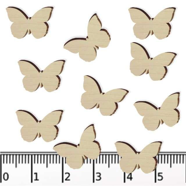 Scrapki drewniane Motylki 15 mm 10 szt
