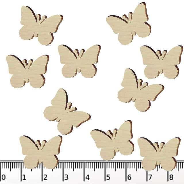 """Scrapki drewniane """"Motylki"""", 20 mm, 10 szt"""