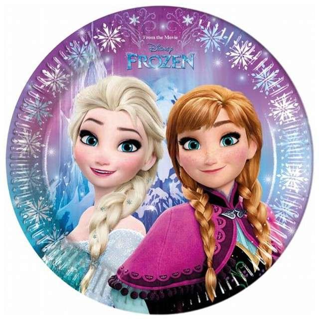 """Talerzyki papierowe """"Frozen"""" 23 cm, 8 szt"""