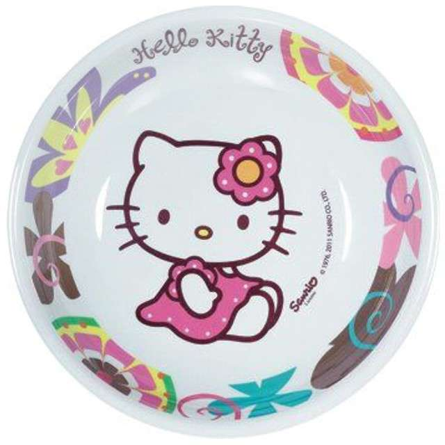 "_xx_Talerzyk BBS z melaminy ""Hello Kitty Bamboo"" 19,5 cm / 1 szt."