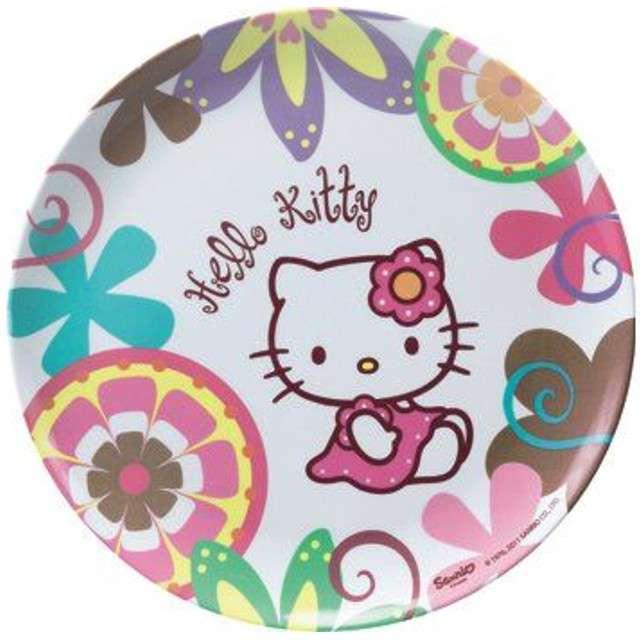 "_xx_Talerzyk BBS z melaminy ""Hello Kitty Bamboo"" 24 cm / 1 szt."