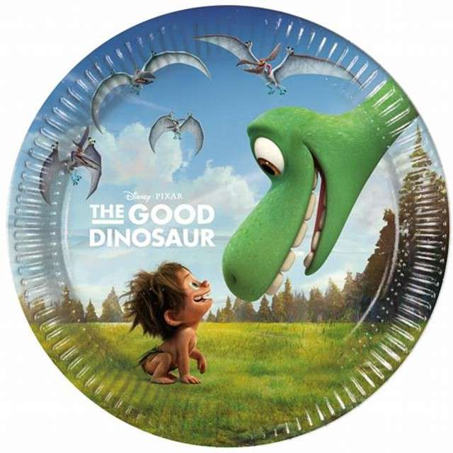 """Talerzyki papierowe """"The Good Dinosaur"""" 20 cm, 8 szt"""
