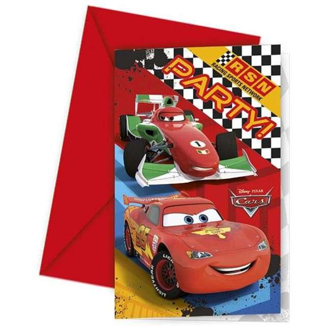 """Zaproszenia urodzinowe """"Cars"""", PROCOS, 6 szt"""