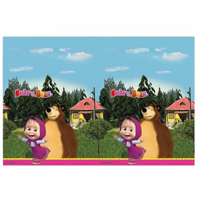 """Obrus foliowy """"Masha and The Bear"""", PROCOS, 120 x 180 cm"""