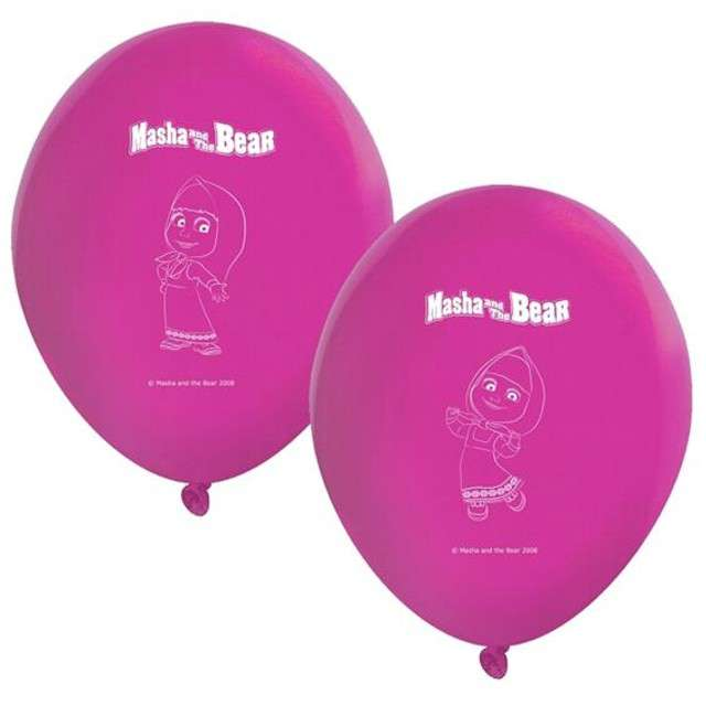 "Balony 11"", ""Masha and The Bear"", PROCOS,  Pastel Fuchsia, 8 szt"