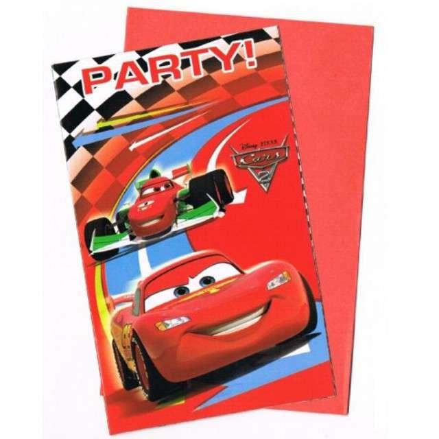 """_xx_Zaproszenia z kopertą """"Cars 2"""" 6 szt."""
