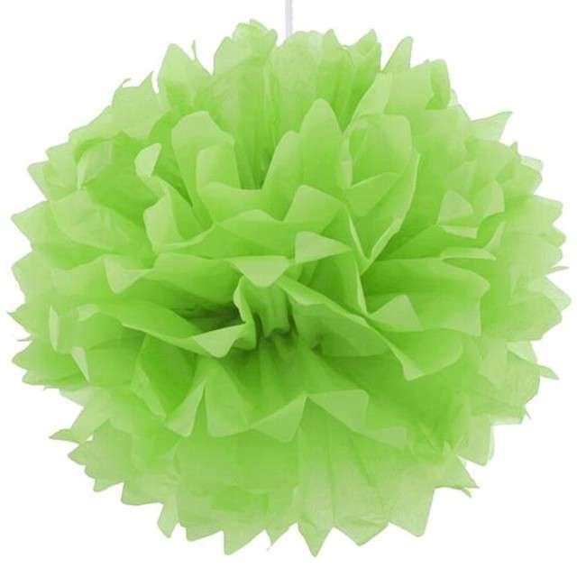 Pompon bibułowy, zielone jabłuszko 40 cm