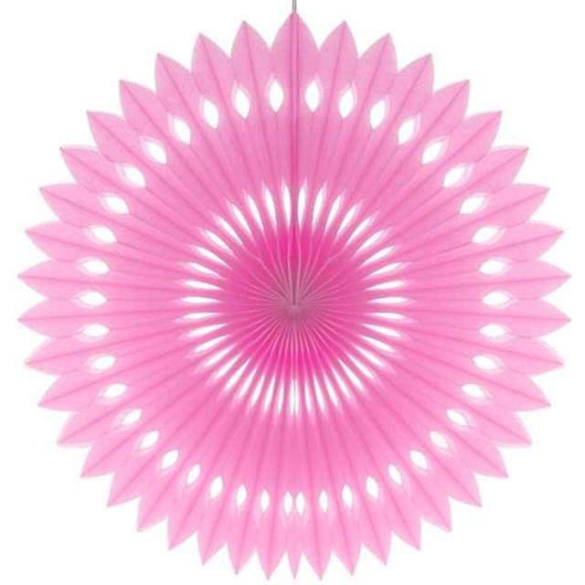 """Rozeta wisząca """"Oczko"""", różowa jasna, 40 cm"""