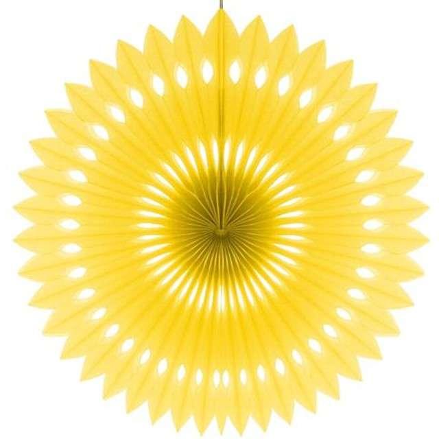 """Rozeta wisząca """"Oczko"""", żółta, 40 cm"""