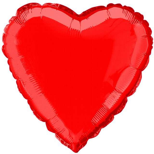 """Balon foliowy """"Serce"""", czerwone, FLEXMETAL, 18"""""""