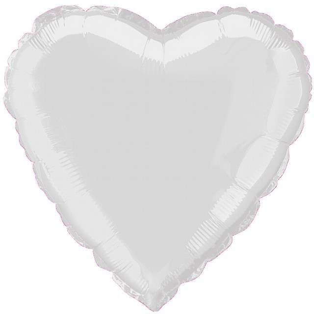 "Balon foliowy ""Serce"", srebrny, FLEXMETAL, 18"" HRT"