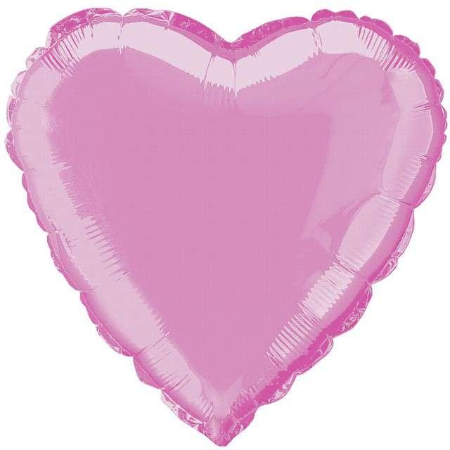 """Balon foliowy """"Serce"""", różowy jasny, FLEXMETAL, 18"""""""