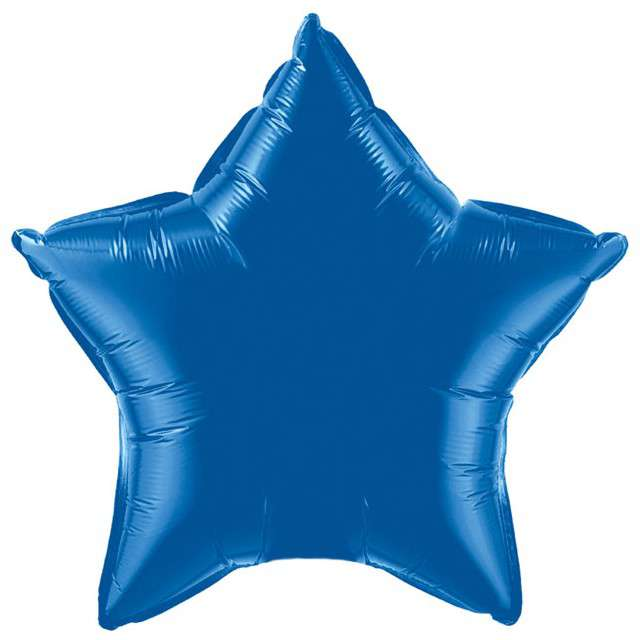 "Balon foliowy ""Gwiazda"", niebieska, FLEXMETAL, 18"" STR"