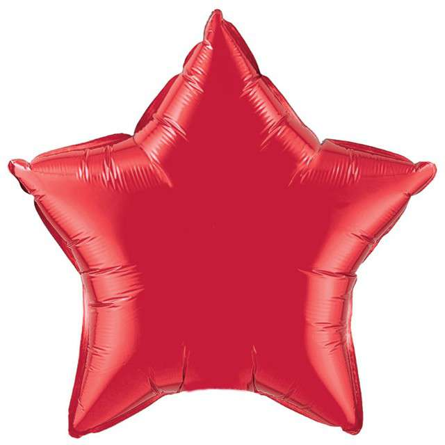 """Balon foliowy """"Gwiazda"""", czerwona, FLEXMETAL, 18"""" STR"""