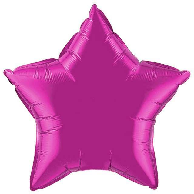 """Balon foliowy """"Gwiazda"""", purpurowa, FLEXMETAL, 18"""" STR"""